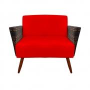 Namoradeira Chanel Decoração Pé Palito Cadeira Escritório Clinica Jantar Sala Estar D'Classe Decor Suede Vermelho