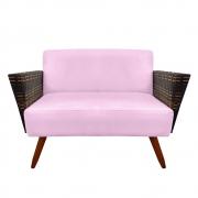 Namoradeira Chanel Decoração Pé Palito Cadeira Escritório Clinica Jantar Sala Estar D'Classe Decor Suede Rosa Bebê