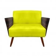 Namoradeira Chanel Decoração Pé Palito Cadeira Escritório Clinica Jantar Sala Estar D'Classe Decor Suede Amarelo