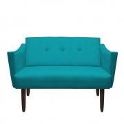 Namoradeira Naty Decorativa Sala de Estar Recepção Pé Palito Suede Azul Tifany D05 - D´Classe Decor