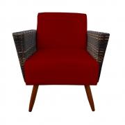 Poltrona Chanel Decoração Pé Palito Cadeira Escritório Clinica Jantar Sala Estar D'Classe Decor Suede Marsala