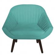 Poltrona Decorativa Anitta Suede Azul Tiffany DD05-D'classe Decor