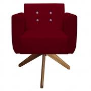 Poltrona Duda Strass Base Giratória Cadeira Escritório Consultório Salão D'Classe Decor Suede Marsala