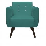 Poltrona Duda Strass Decoração Cadeira Escritório Consultório Salão D'Classe Decor Suede Azul Tiffany