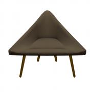 Poltrona Ibiza Triângulo Decoração Sala Recepção Escritório Quarto Cadeira Sued Marrom Rato