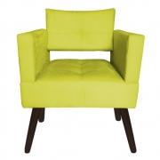 Poltrona Jollie Decoração Pé Palito Luxo Cadeira Sala Estar Escritório Recepção Suede Amarelo