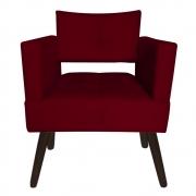 Poltrona Jollie Decoração Pé Palito Luxo Cadeira Sala Estar Escritório Recepção D'Classe Decor Suede Marsala