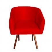 Poltrona Julia Decoração Salão Cadeira Escritório Recepção Estar Amamentação Suede Vermelho
