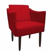 Poltrona Naty Decoração Clínica Salão Cadeira Recepção Escritório Sala Estar D'Classe Decor Suede Vermelho