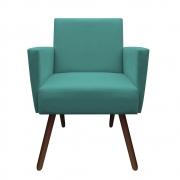 Poltrona Nina Decoração Sala Clinica Recepção Escritório Quarto D'Classe Decor Suede Azul Tiffany