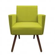 Poltrona Nina Decoração Sala Estar Clinica Recepção Escritório Quarto Cadeira D'Classe Decor Suede Amarelo