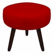 Puff Duda Decorativa Sala de Estar Recepção Pé Palito Suede Vermelho D09 - D´Classe Decor
