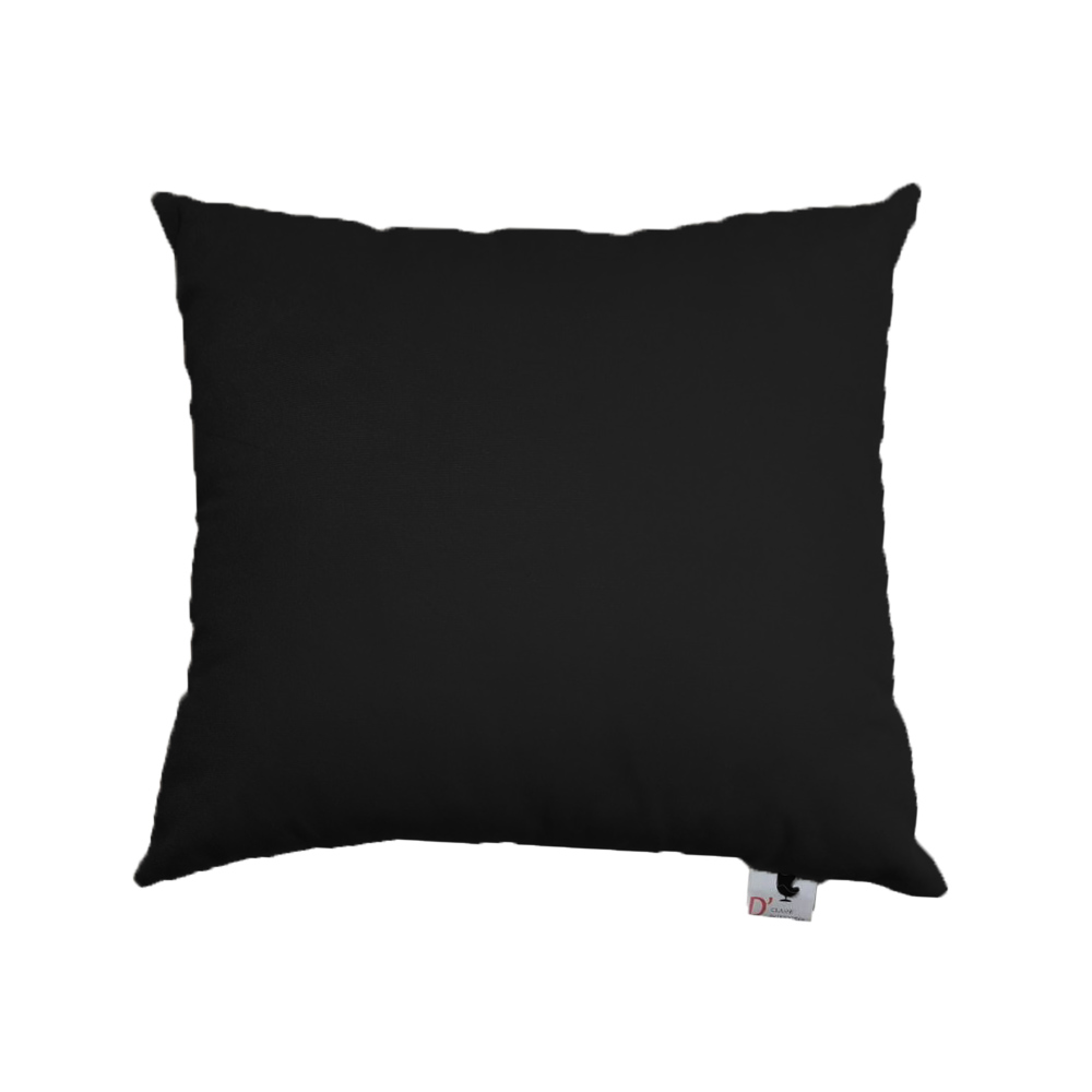 Almofada Decorativa Com Enchimento Suede Preto D11 - D´Classe Decor