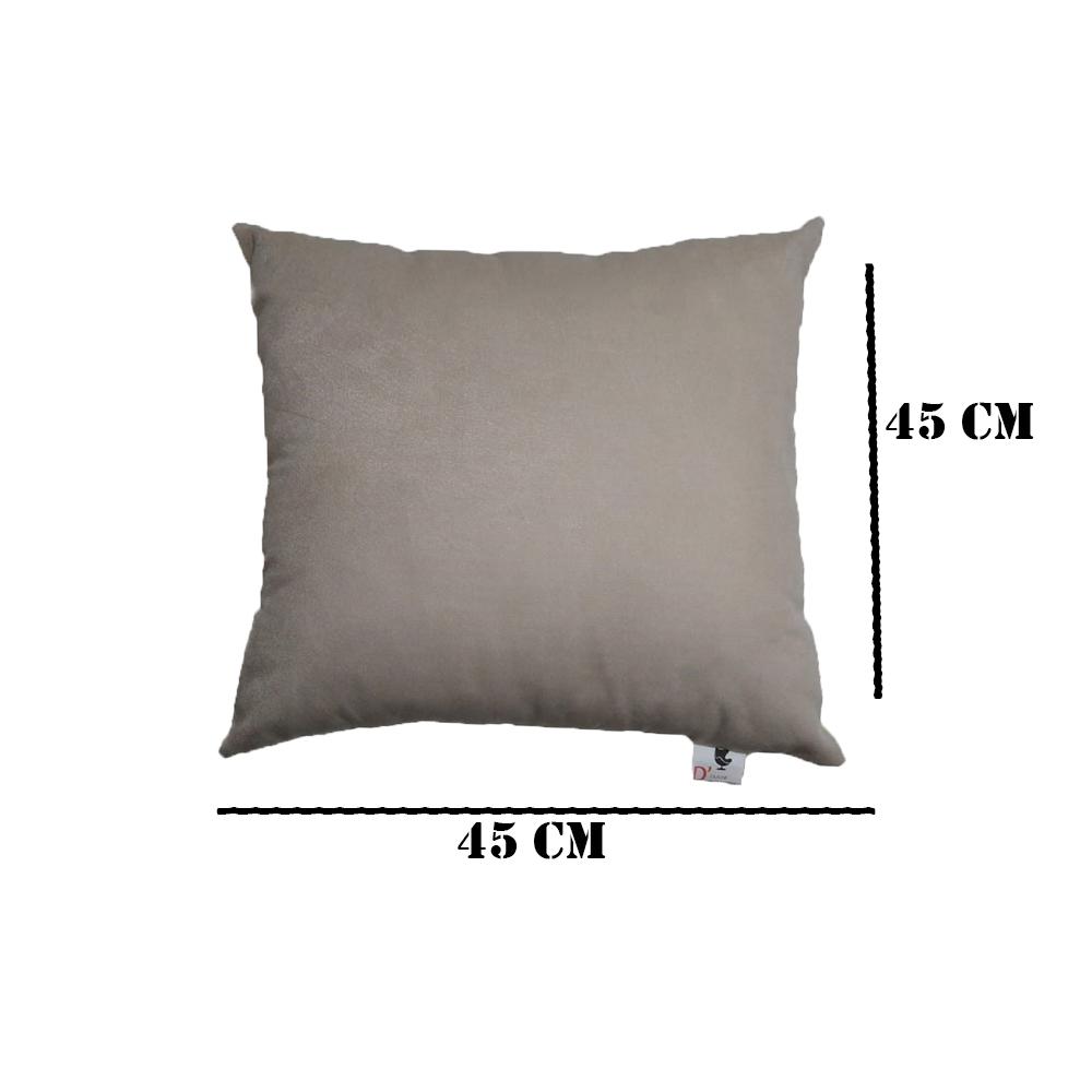 Kit 03 Almofadas Decorativa Com Enchimento Suede Marrom D08 - D´Classe Decor