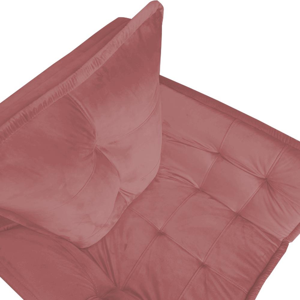 Kit 03 Poltrona Opala Decoração Luxo Pé Palito Sala Estar Escritório Recepção Clinica Veludo Rosê