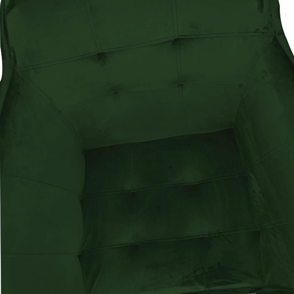 kit 03 Poltrona Vitória Decoração Luxo Pé Palito Sala Estar Escritório Recepção Clinica D'Classe Decor Veludo Verde