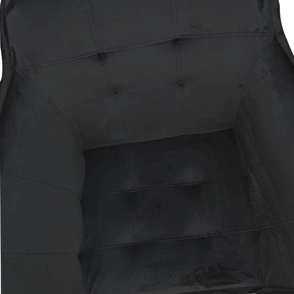 kit 03 Poltrona Vitória Decoração Luxo Pé Palito Sala Estar Escritório Recepção Clinica D'Classe Decor Veludo Preto