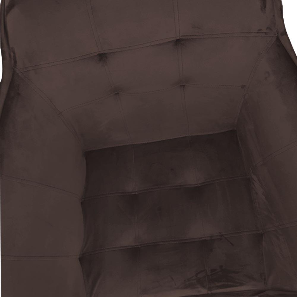 kit 03 Poltrona Vitória Decoração Luxo Pé Palito Sala Estar Escritório Recepção Clinica D'Classe Decor Veludo Marrom