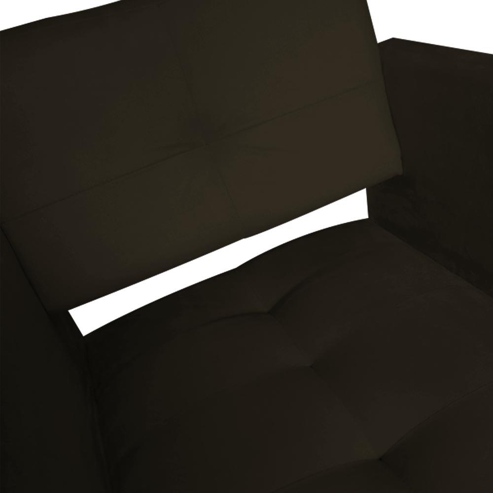 Kit 03 Poltrona Jollie Decoração Pé Palito Luxo Cadeira Sala Estar Escritório Recepção D'Classe Decor Suede Marrom