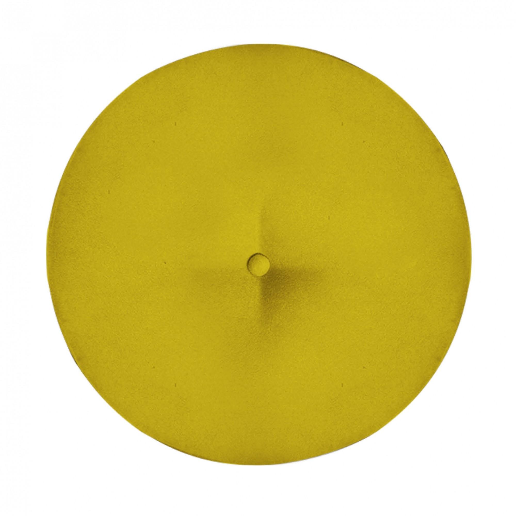 Kit 03 Puffs Duda Decorativa Sala de Estar Recepção Pé Palito Suede Amarelo D04 - D´Classe Decor