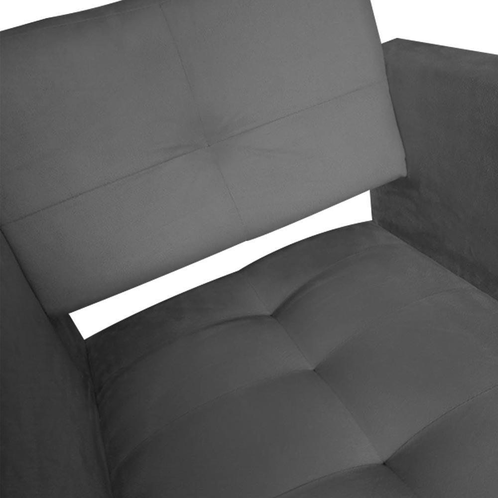 Kit 04 Poltrona Jollie Decoração Pé Palito Luxo Cadeira Sala Estar Escritório Recepção D'Classe Decor Suede Grafite