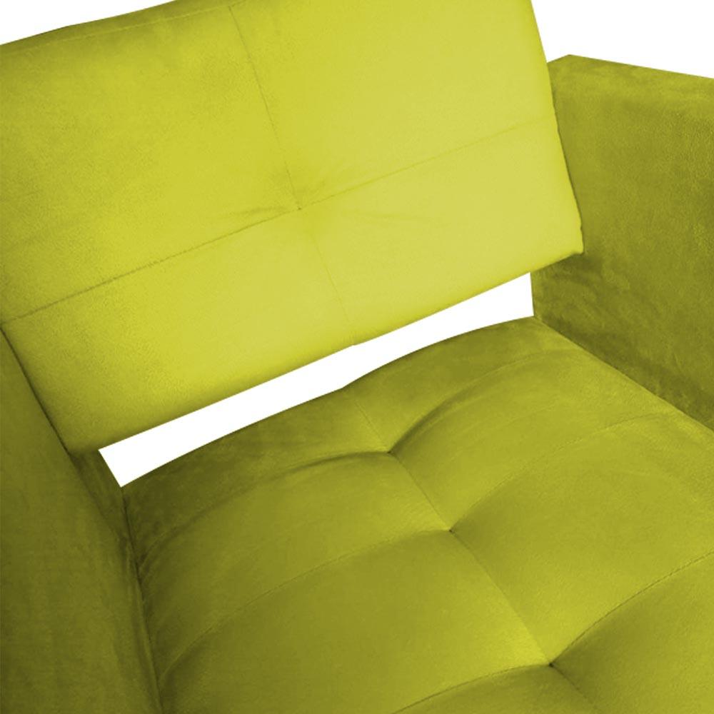 Kit 04 Poltrona Jollie Decoração Pé Palito Luxo Cadeira Sala Estar Escritório Recepção Suede Amarelo