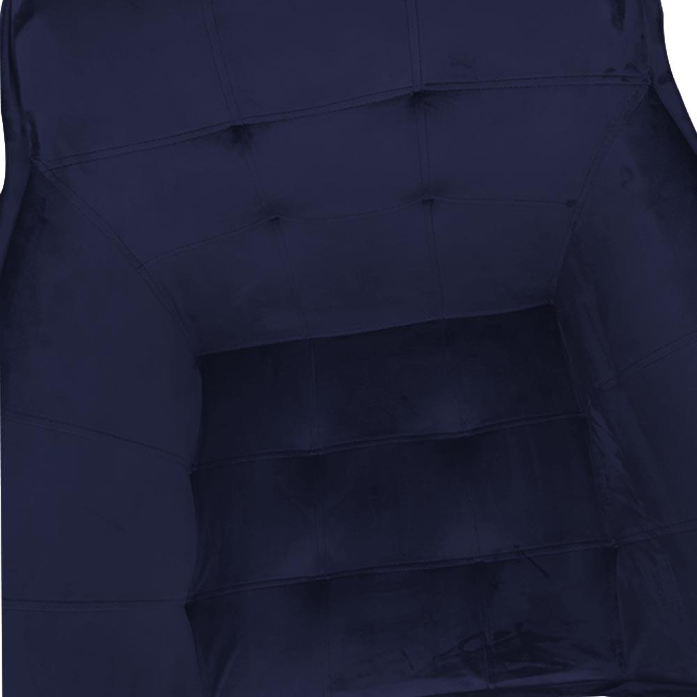kit 04 Poltrona Vitória Decoração Luxo Pé Palito Sala Estar Escritório Recepção Clinica D'Classe Decor Veludo Azul Marinho