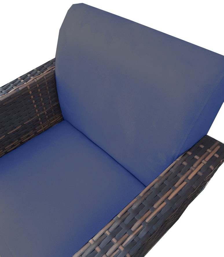 Kit 4 Poltrona Chanel Decoração Base Giratória Escritório Sala Estar Recepção Clinica D'Classe Decor Suede Azul Marinho