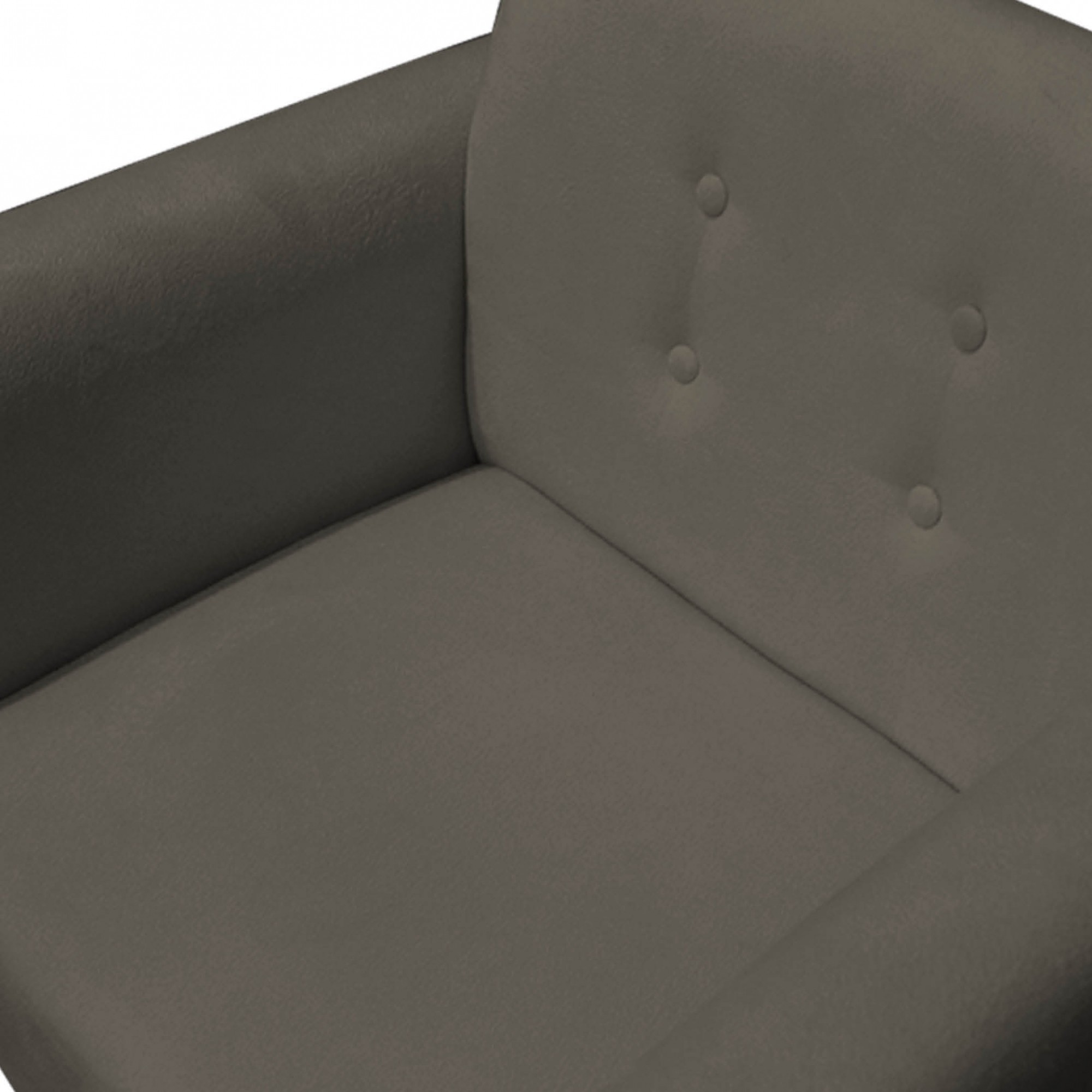 Kit 04 Poltronas Duda Decorativa Sala de Estar Recepção Pé Palito Suede Marrom Rato D10 - D´Classe Decor