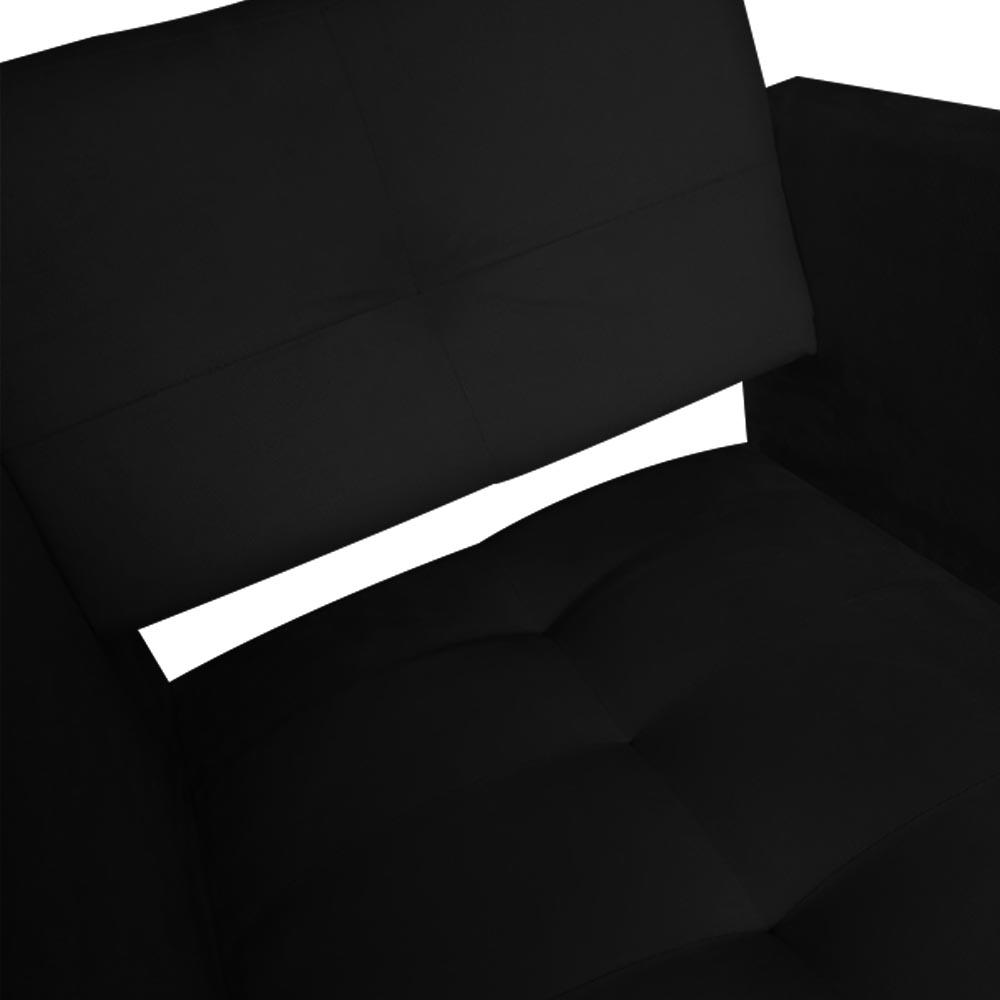 Kit 05 Poltrona Jollie Decoração Pé Palito Luxo Cadeira Sala Estar Escritório Recepção Suede Preto