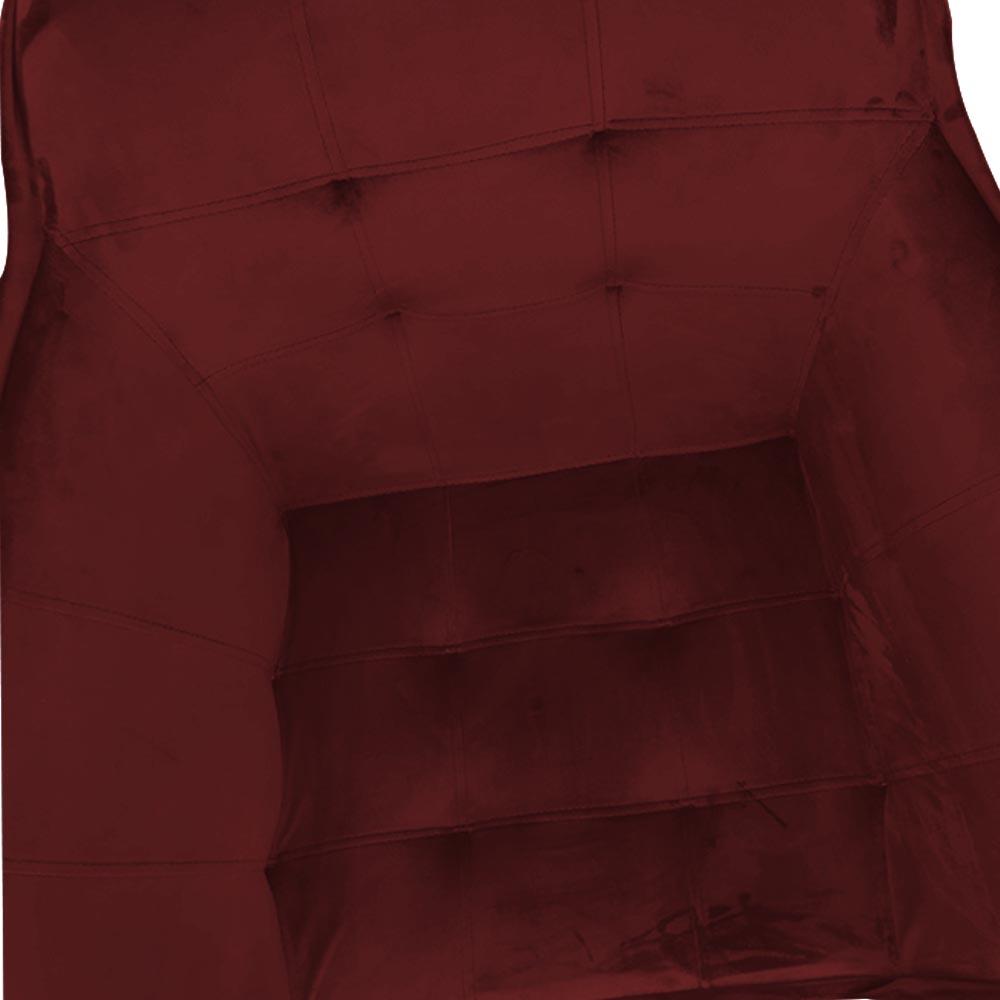 kit 05 Poltrona Vitória Decoração Luxo Pé Palito Sala Estar Escritório Recepção Clinica D'Classe Decor Veludo Marsala