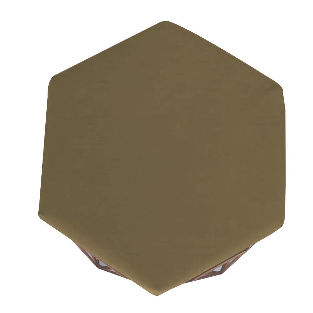 Kit 05 Puffs Banqueta Aramado Diamante Hexágono Sala Quarto Suede Marrom Rato D10 - D´Classe Decor