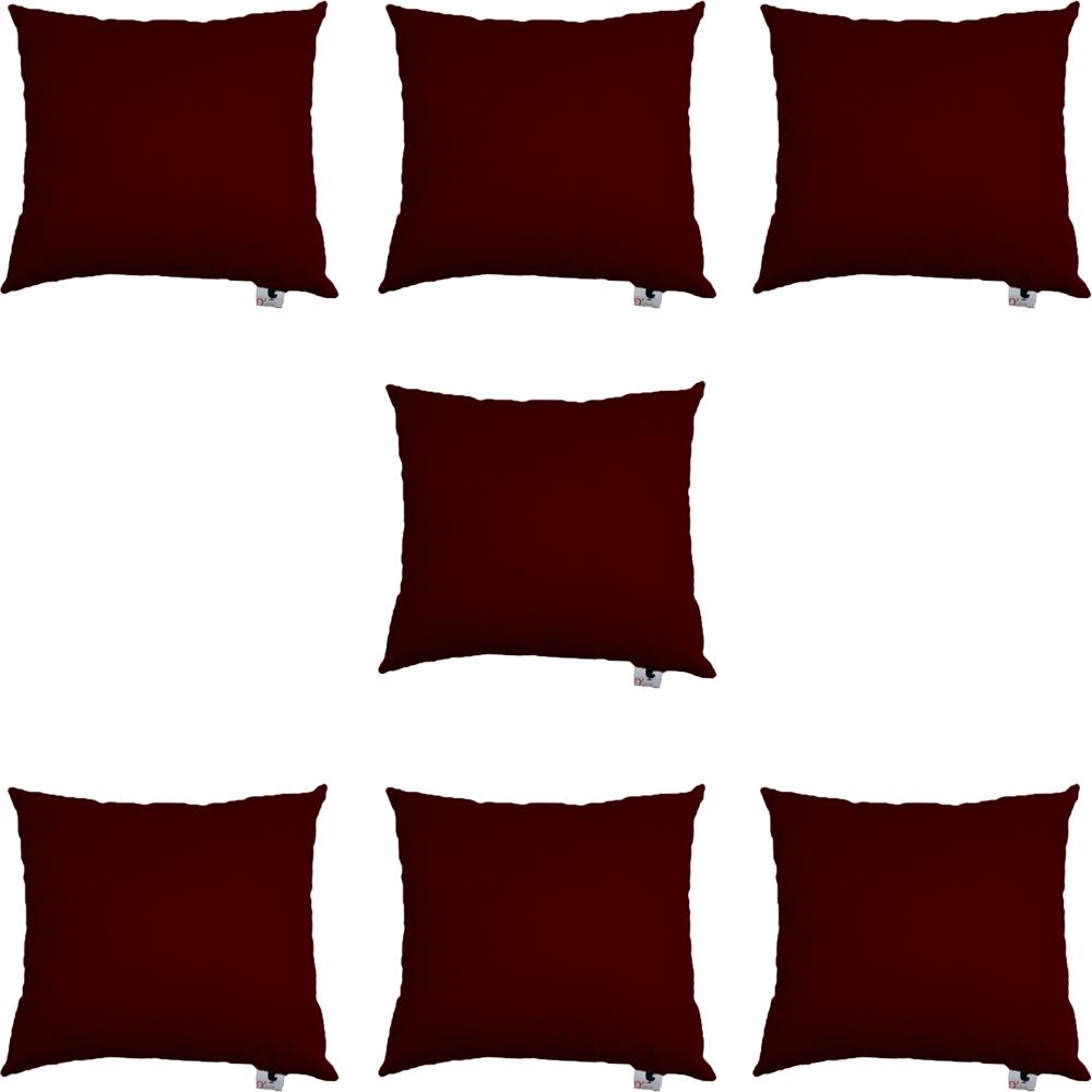 Kit 07 Almofadas Decorativa Com Enchimento Suede Marsala D01 - D´Classe Decor