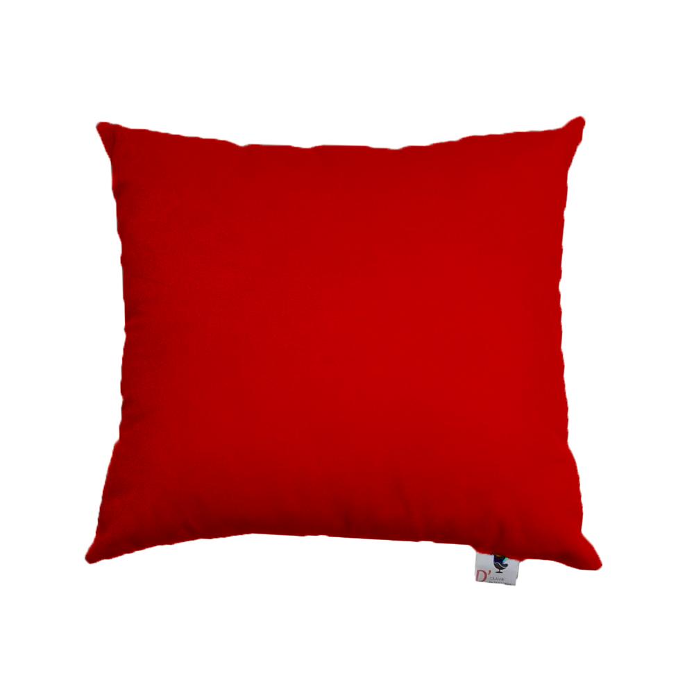 Kit 07 Almofadas Decorativa Com Enchimento Suede Vermelho D09 - D´Classe Decor