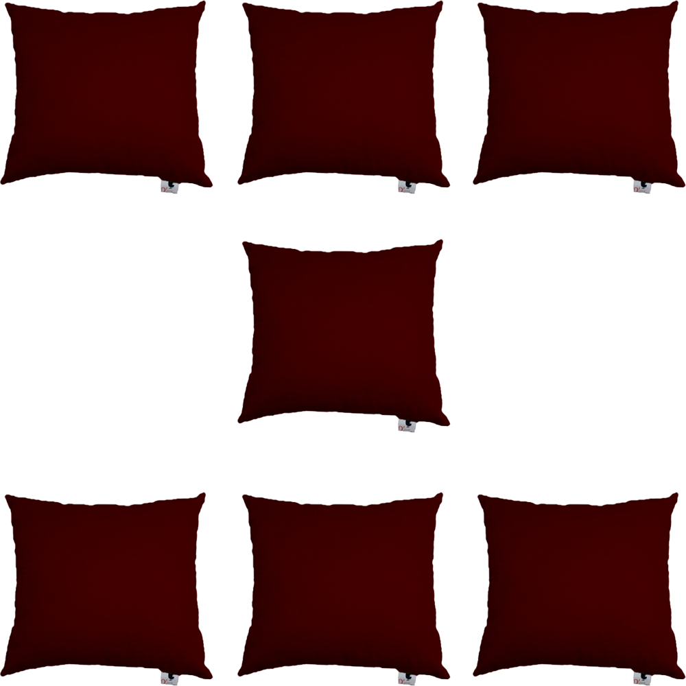 Kit 07 Capas De Almofadas Decorativa Suede Marsala D01 - D´Classe Decor