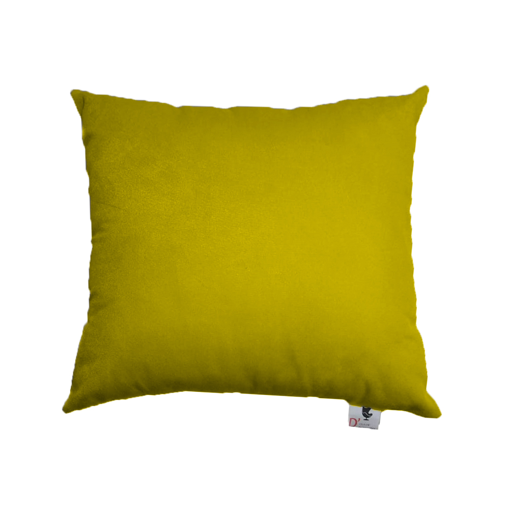 Kit 10 Almofadas Decorativa Com Enchimento Suede Amarelo D04 - D´Classe Decor