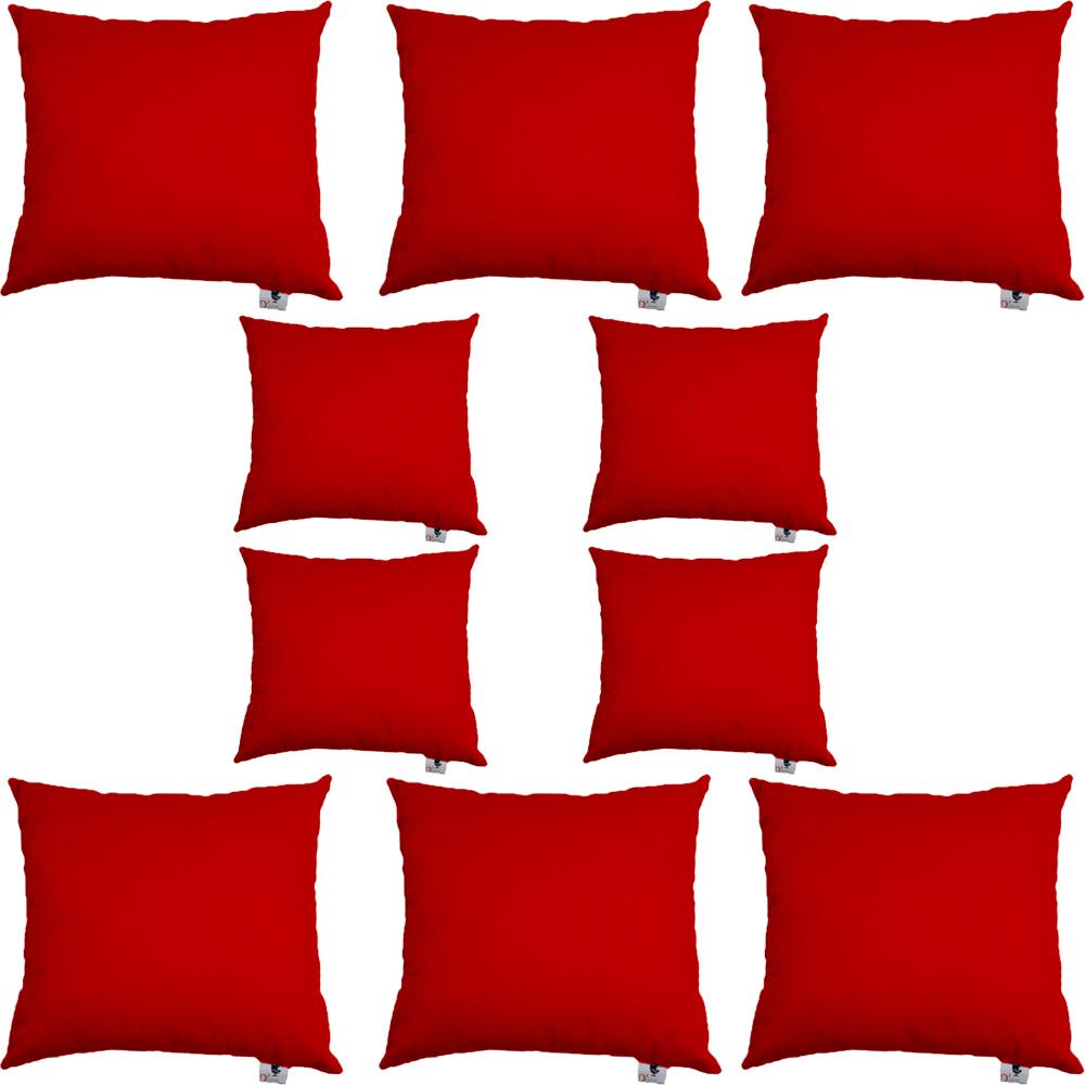 Kit 10 Capas De Almofadas Decorativa Suede Vermelho D09 - D´Classe Decor