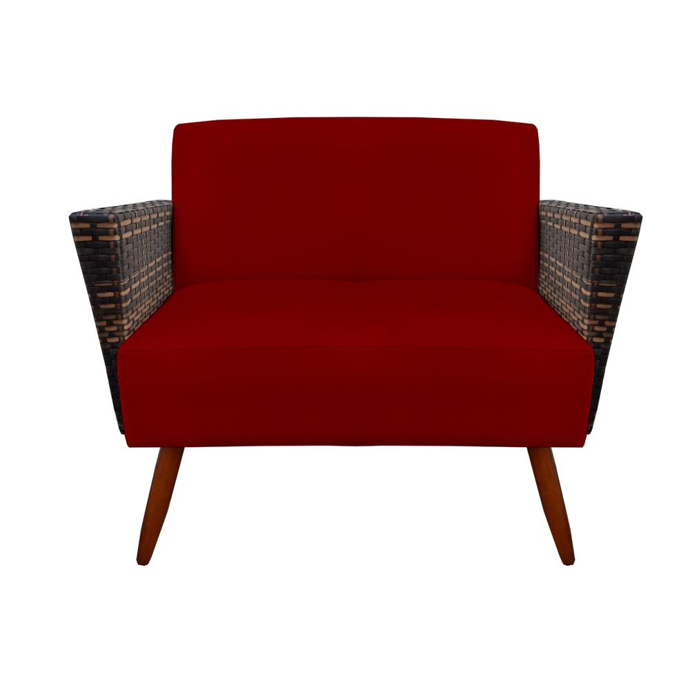 Kit 2 Namoradeira Chanel Decoração Pé Palito Cadeira Escritório Clinica Jantar Sala D'Classe Decor Suede Marsala