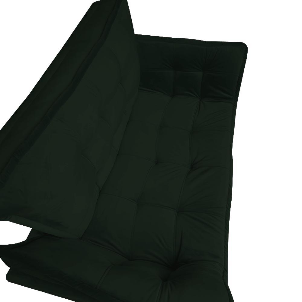 Kit 2 Namoradeira Opala Sofá Decoração Clínica Recepção Escritório Sala Estar D'Classe Decor Veludo Verde
