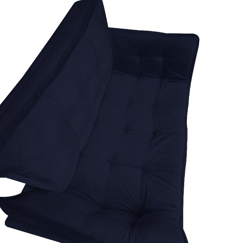 Kit 2 Namoradeira Opala Sofá Decoração Clínica Recepção Escritório Sala Estar D'Classe Decor Veludo Azul Marinho