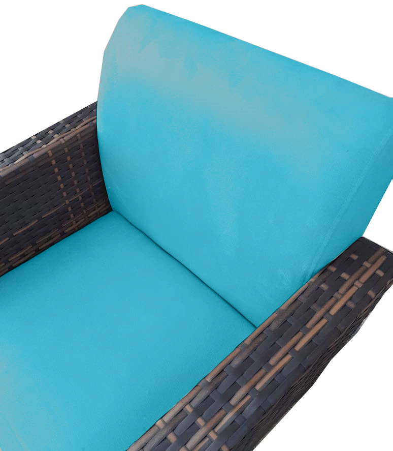 Kit 2 Poltrona Chanel Decoração Base Giratória Escritório Estar Recepção Clinica Suede Azul Tiffany