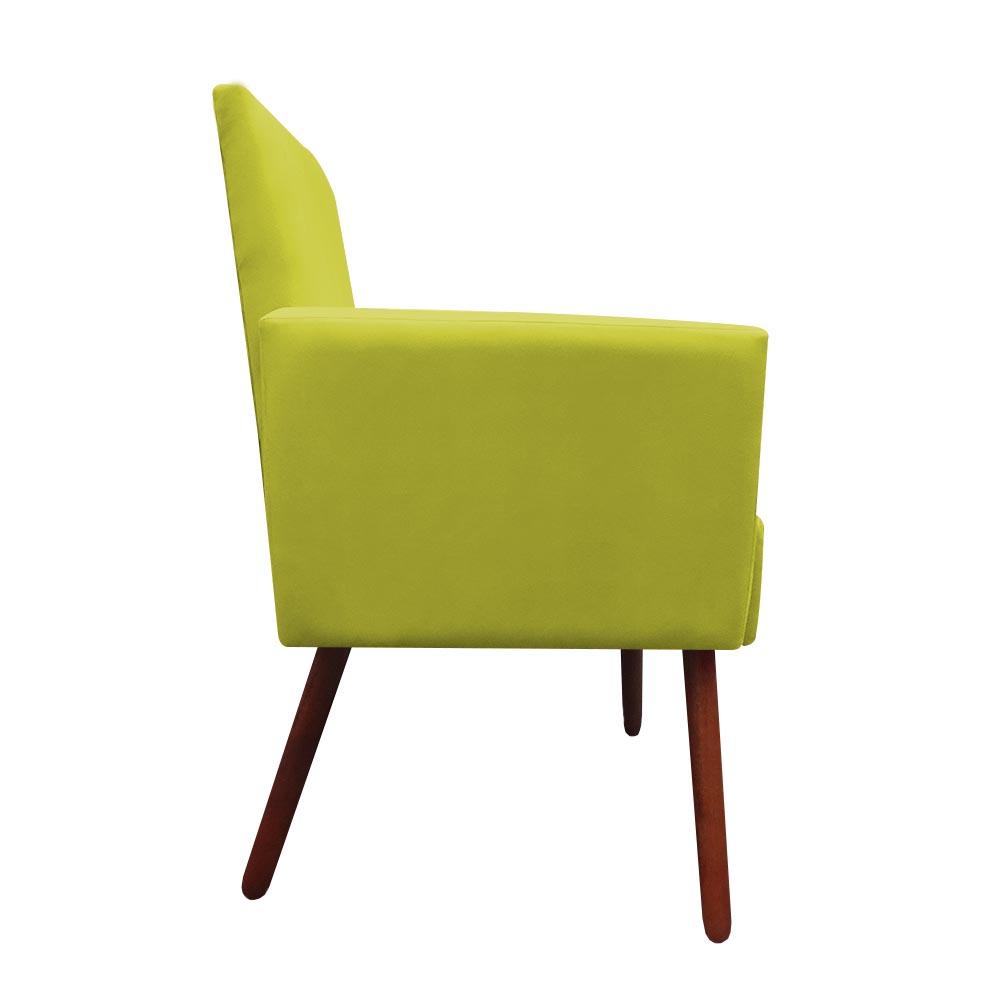 Kit 2 Poltronas Nina Decoração Sala Estar Clinica Recepção Escritório Quarto Cadeira D'Classe Decor Suede Amarelo