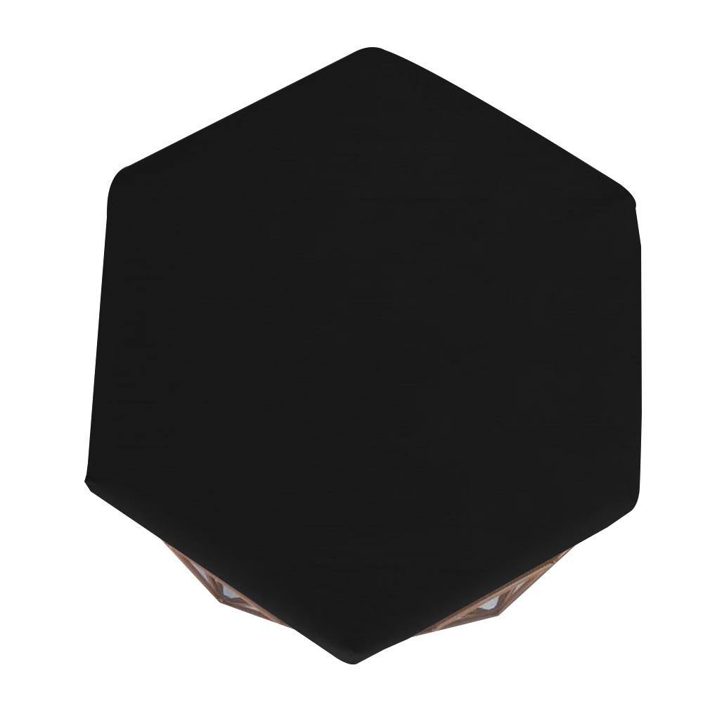 Kit 2 Puff Diamante Aramado Decoração Banqueta Salão Sala Estar Quarto D'Classe Decor Suede Preto