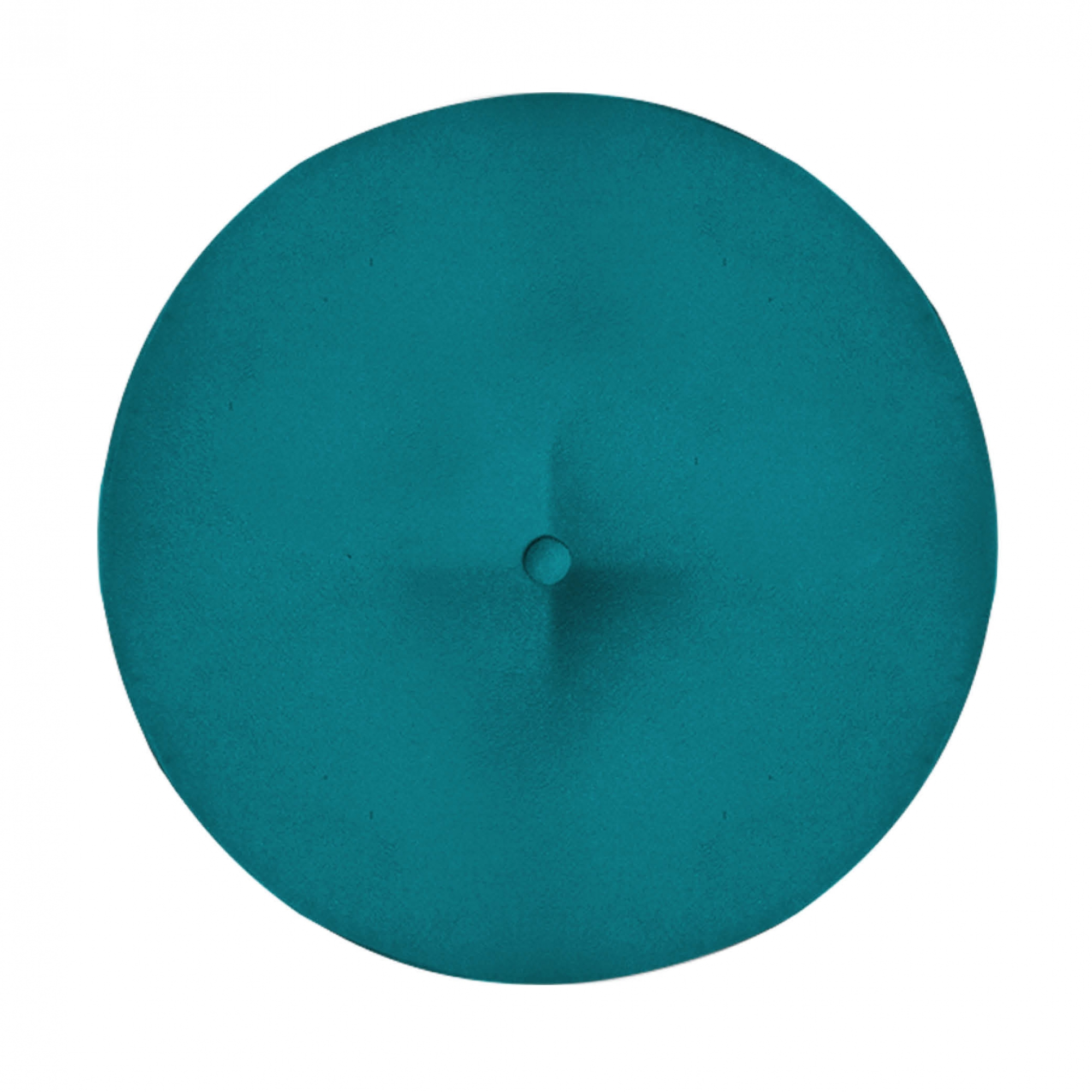 Kit 2 Puff Duda Decoração Redondo Recepção Escritório Sala Estar Salão Quarto D'Classe Decor Suede Azul Tiffany