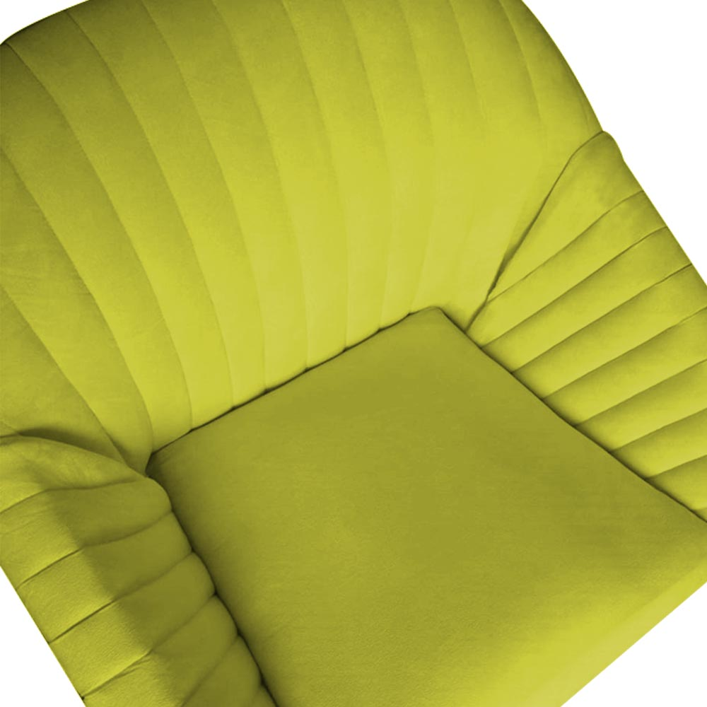 Kit 3 Poltrona Anitta Decoração Recepção Clínica Pé Palito Moderna Quarto Salão D'Classe Decor Suede Amarelo