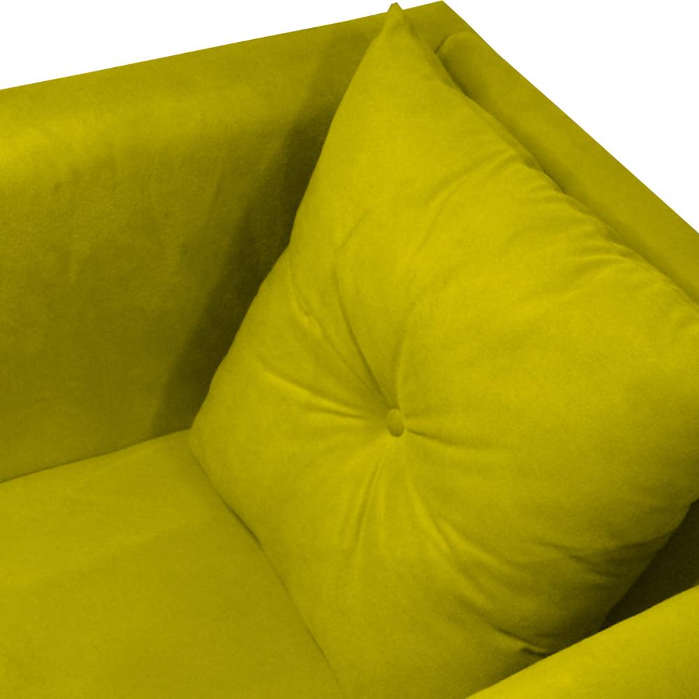 Kit 3 Poltrona Bia Decoração Pé Palito Sala Estar Jantar Escritório Clinica Quarto D'Classe Decor Suede Amarelo