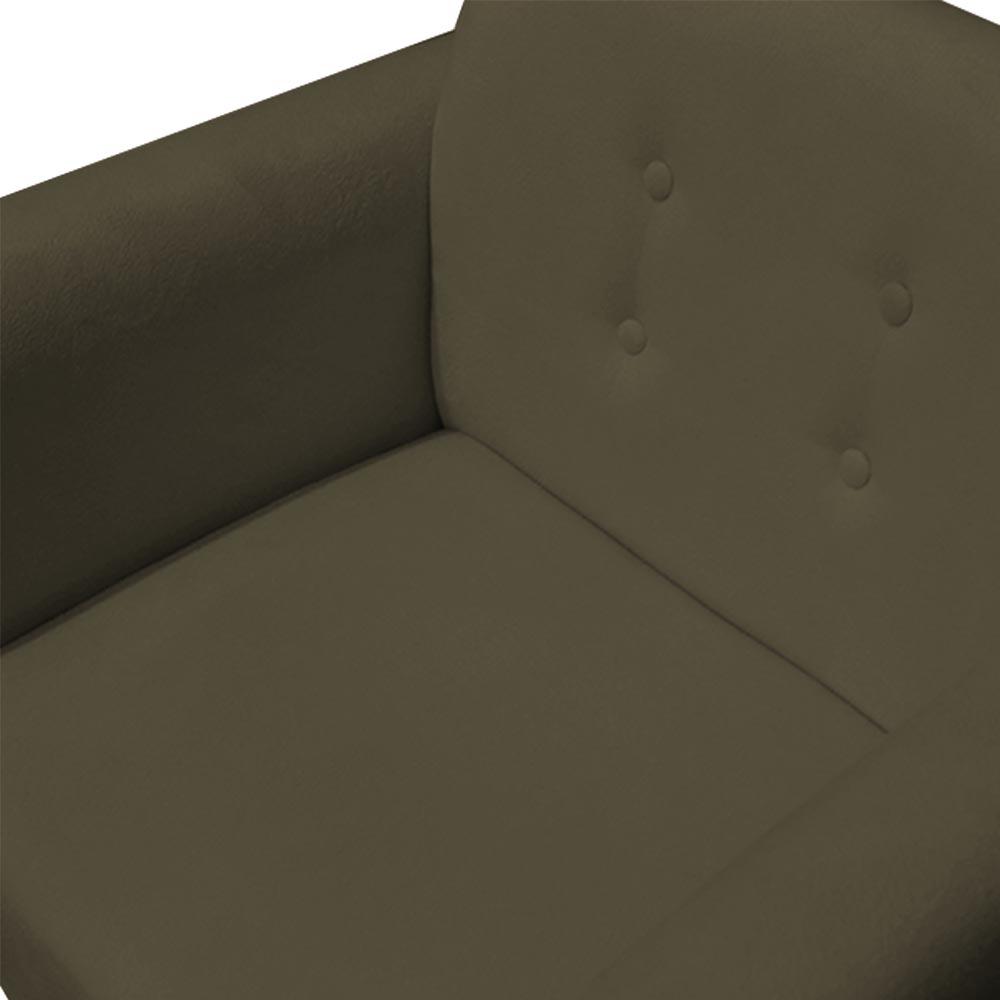 Kit 3 Poltrona Duda Decoraçâo Base Giratória Cadeira Recepção Escritório Clinica D'Classe Decor Suede Marrom Rato
