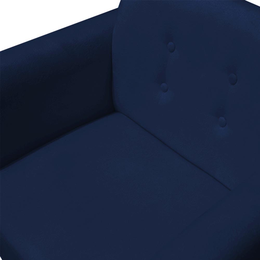 Kit 3 Poltrona Duda Decoraçâo Base Giratória Cadeira Recepção Escritório Clinica D'Classe Decor Suede Azul Marinho