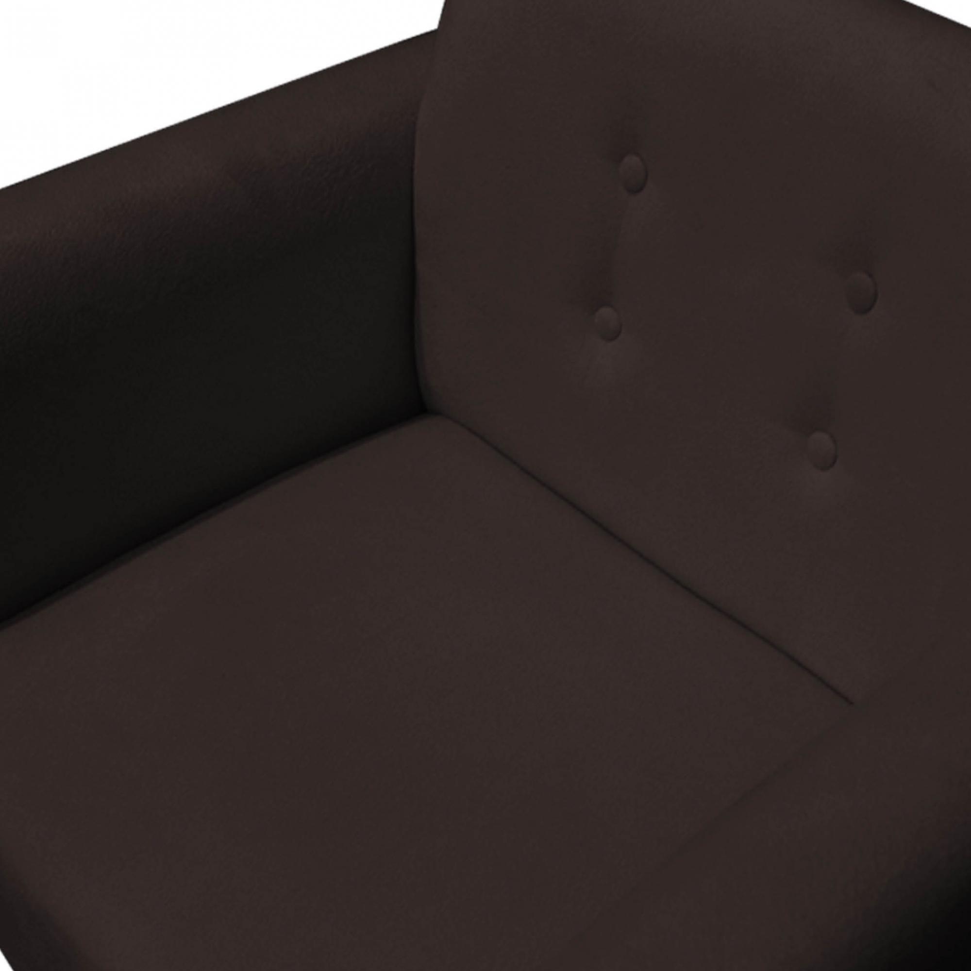 Kit 3 Poltrona Duda Decoraçâo Pé Palito Cadeira Recepção Escritório Clinica D'Classe Decor Suede Marrom