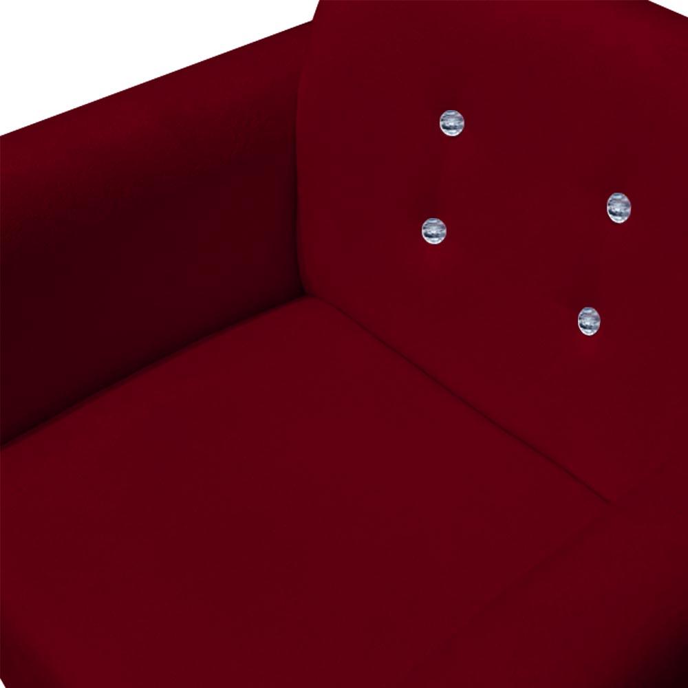 Kit 3 Poltrona Duda Strass Decoração Cadeira Escritório Consultório Salão D'Classe Decor Suede Marsala